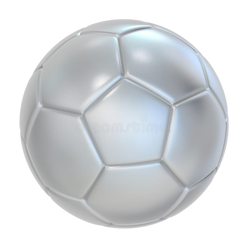 Download Silver Soccer ball stock illustration. Illustration of leather - 17530721