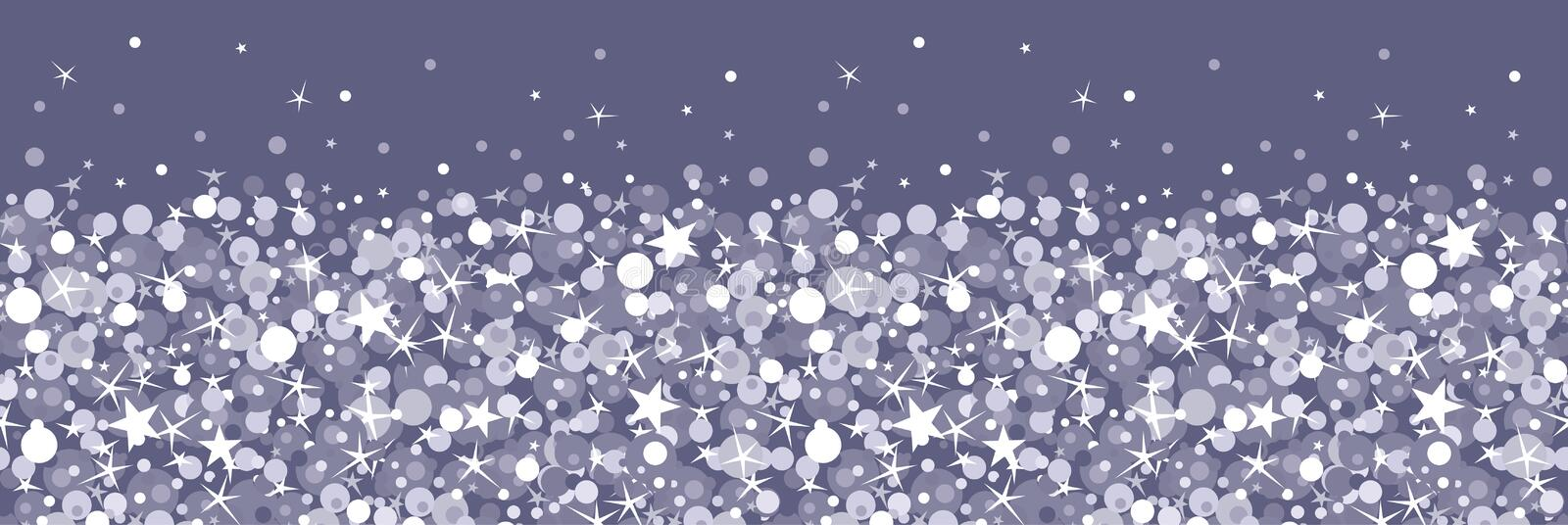Download Silver Sparkles Horizontal Seamless Pattern Royalty Free Stock Images - Image: 31416889