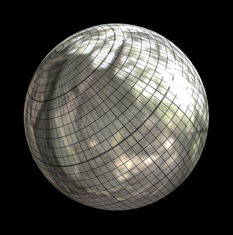 Silver sphere vector illustration