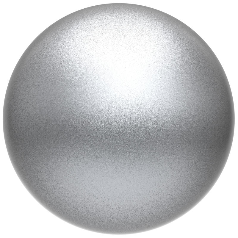 Free Silver Sphere Round White Button Ball Basic Matted Metallic Stock Images - 95194464
