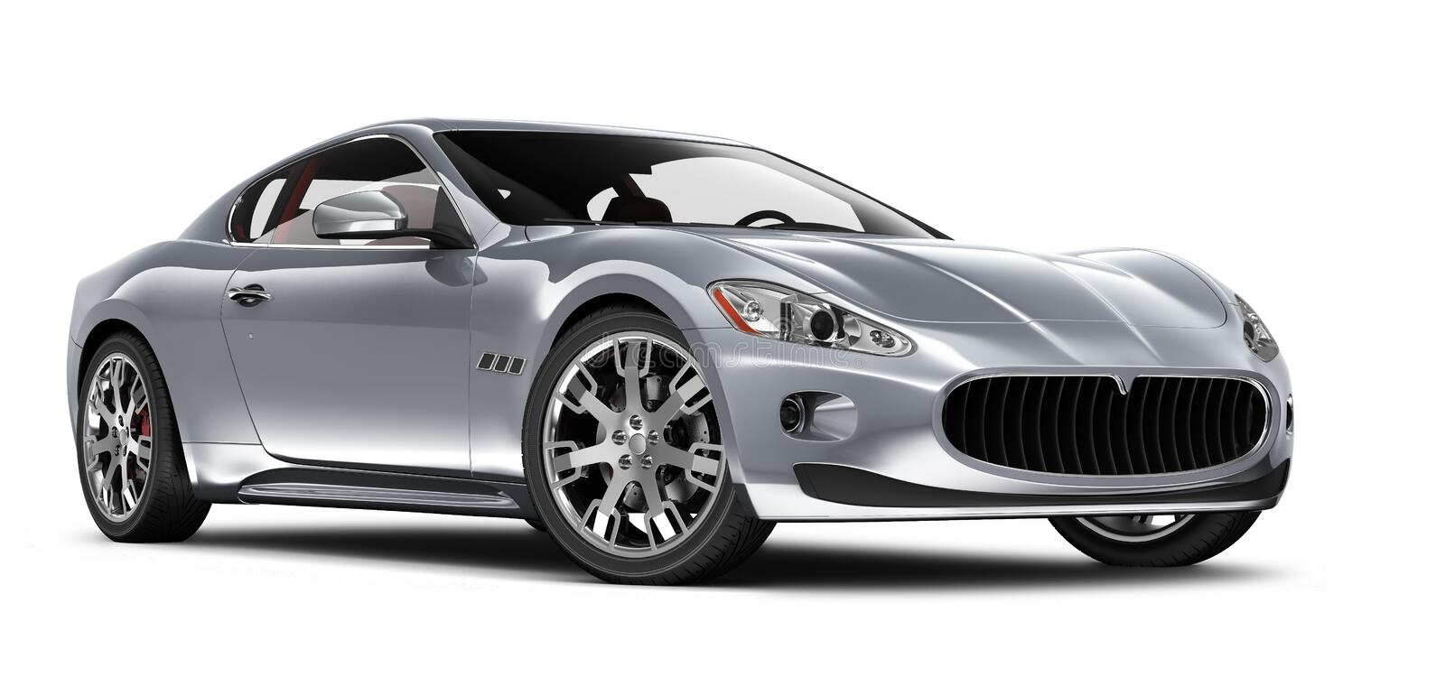 Silver sport coupe car royalty free stock photo
