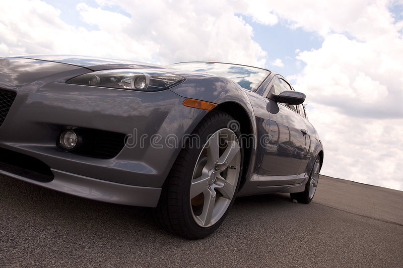 Download Silver Sports Car stock photo. Image of automobile, clouds - 152662