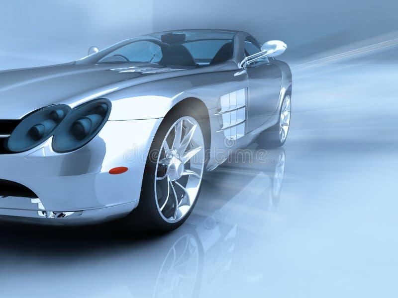 Silver sports car stock illustration