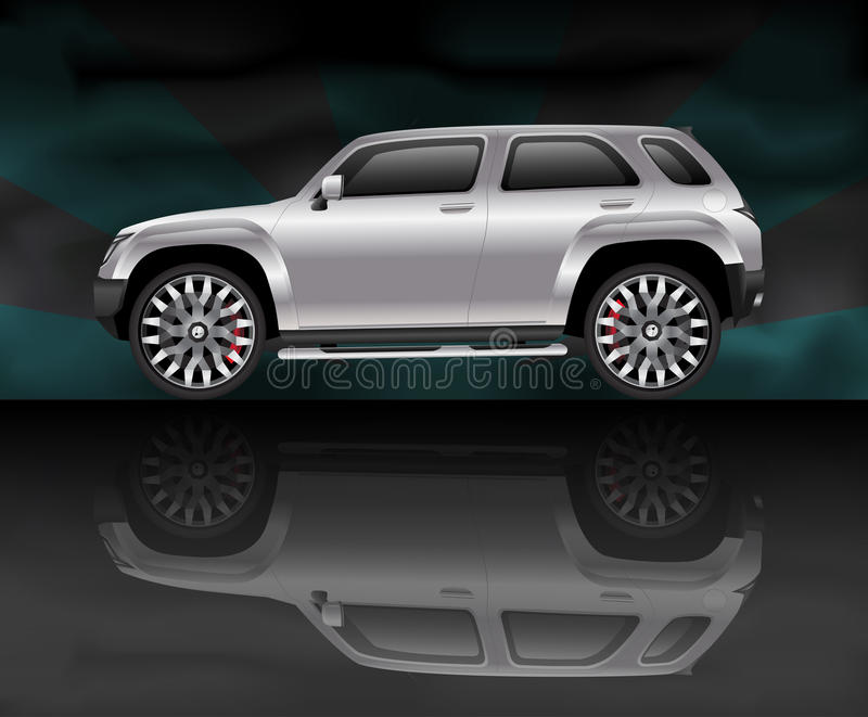 Download Silver Sports Utility Vehicle Stock Vector - Image: 20978465