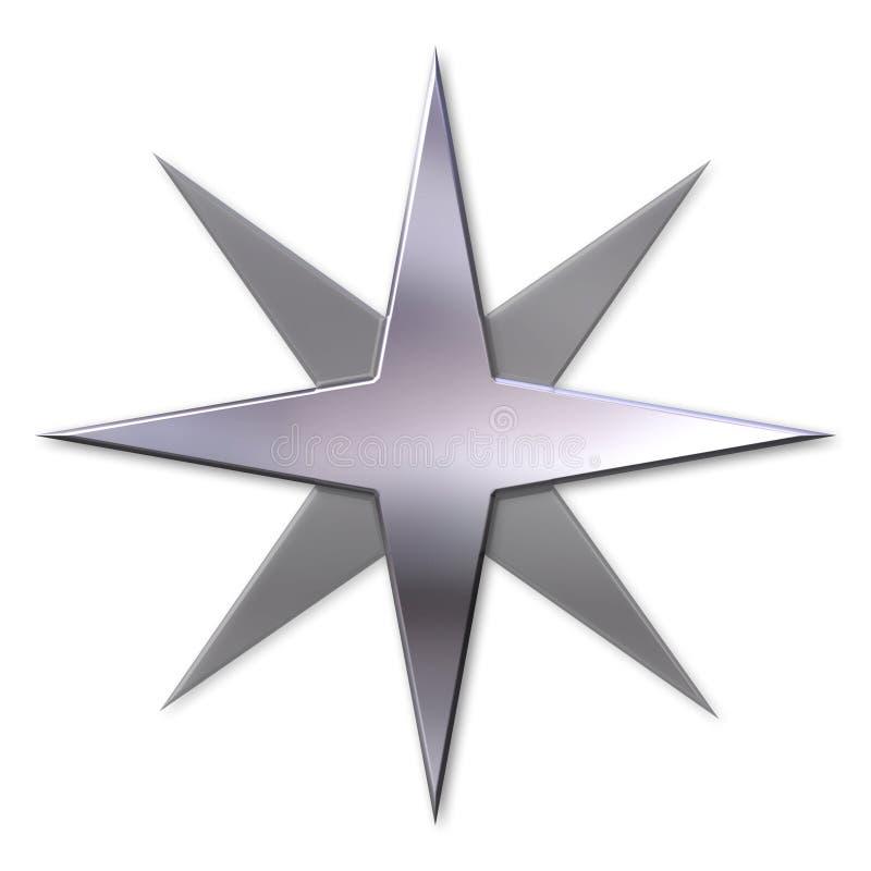 Silver star stock photos