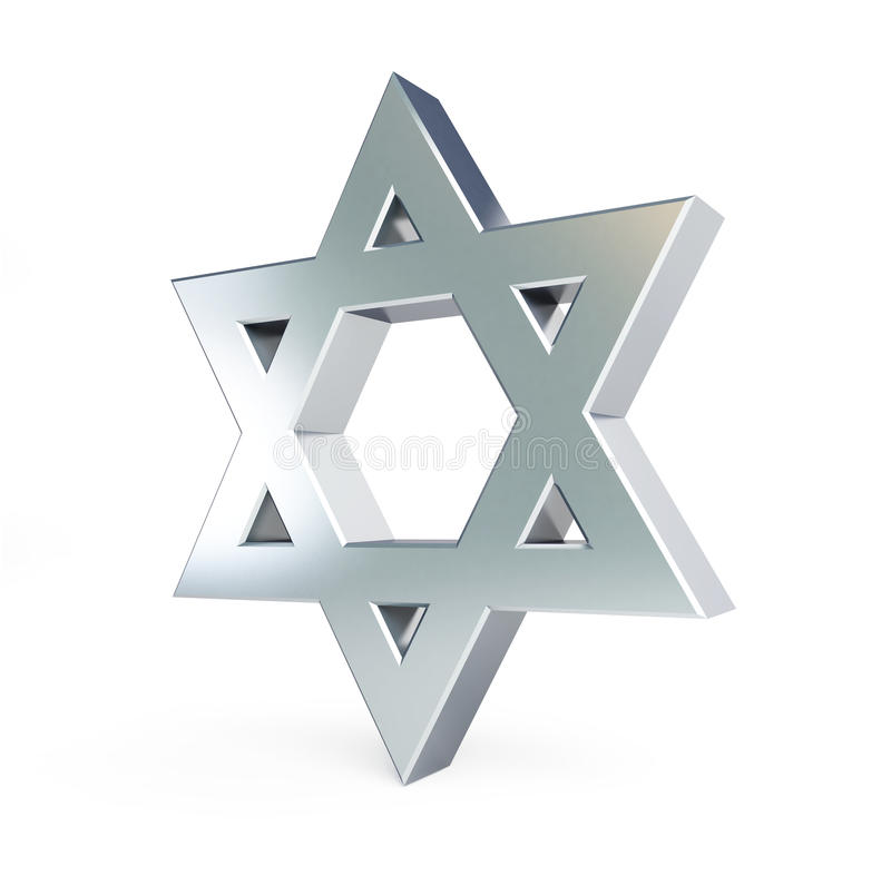 Silver star of David. On a white background vector illustration
