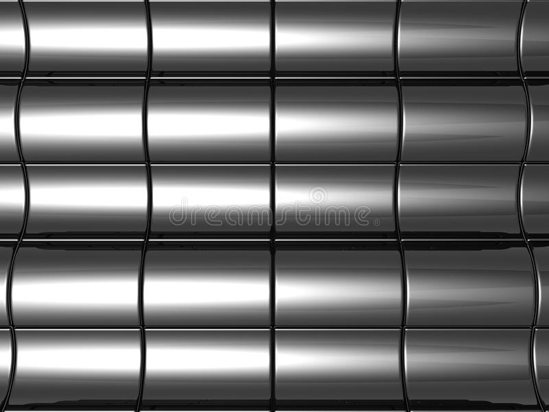 Silver steel background with reflection stock image