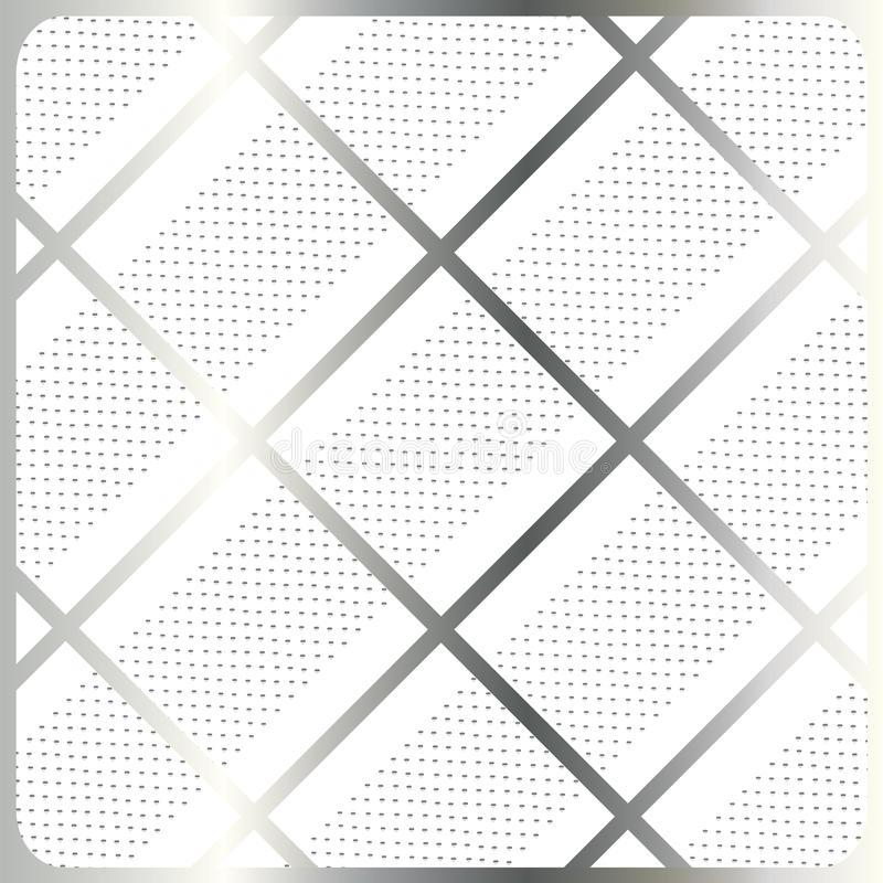 Silver stripes, cage on white background vector. Silver stripes, cage on white with polka dots background. For Design crafts, fabrics, decorating, web, print royalty free illustration