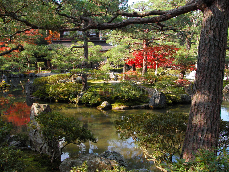 Download Silver temple garden stock photo. Image of kyoto, autumn - 594346