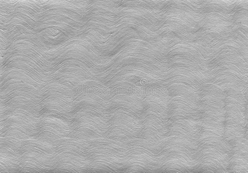 Silver textured background with natural paper and paint acrylic elements. stock photo
