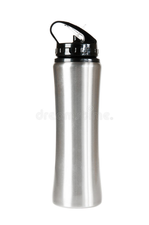 Download Silver thermos stock photo. Image of chrome, vessel, silver - 26255814
