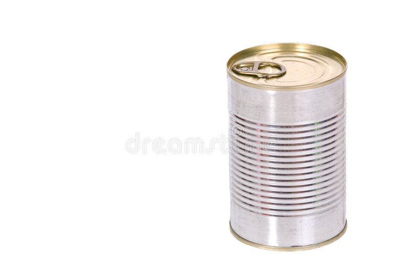 Silver tin royalty free stock image