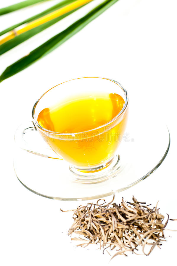 Download Silver Tips Tea In A Glass Cup Stock Photo - Image: 21912746