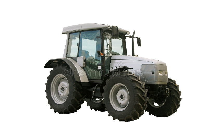 Silver tractor royalty free stock photography