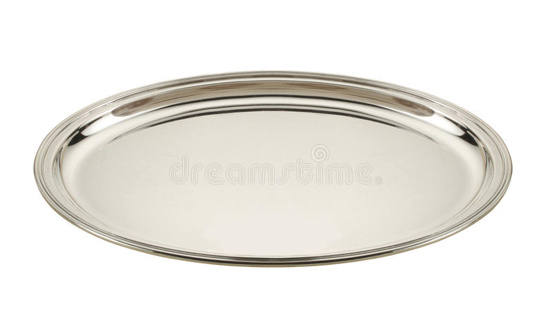 Silver tray royalty free stock image