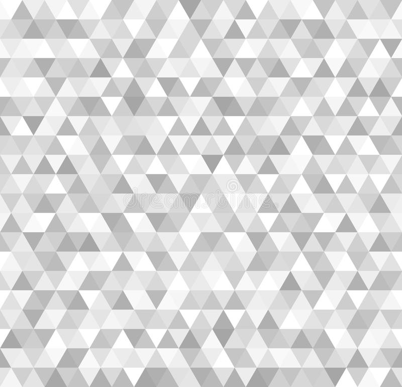 Silver triangle pattern. Seamless vector metallic background royalty free illustration