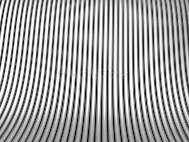 Silver tube steel background royalty free stock photography