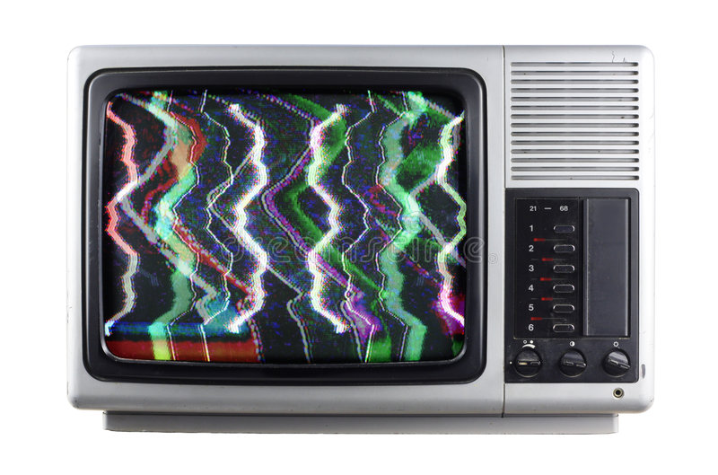 Silver tv royalty free stock image