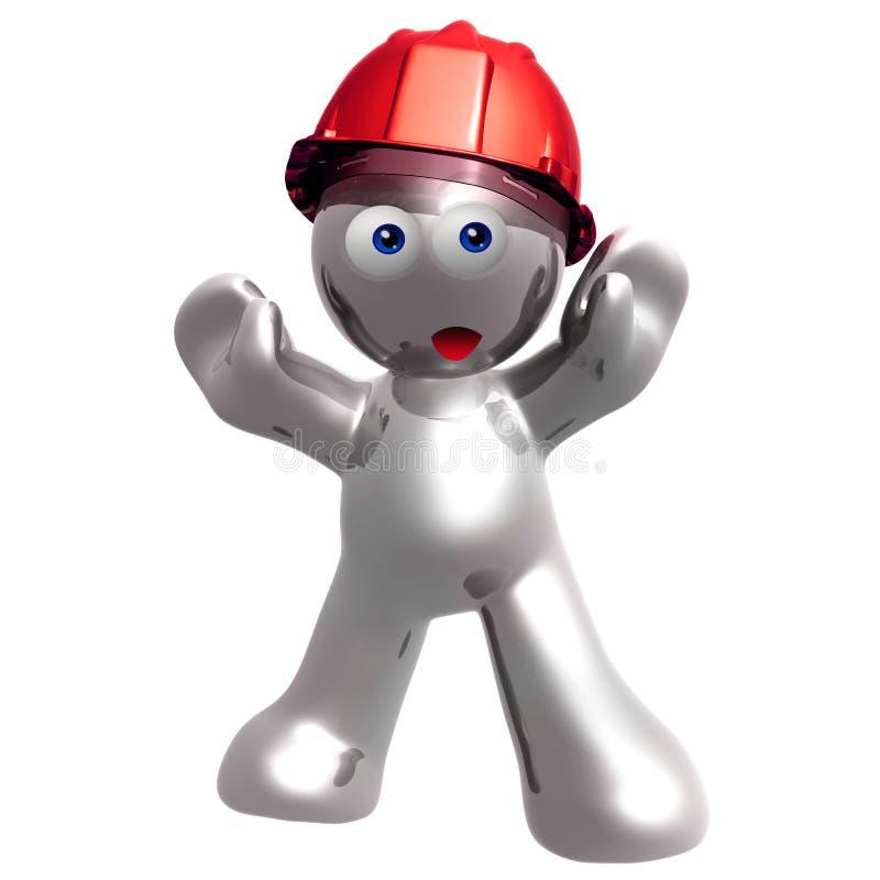 Silver under construction icon stock illustration