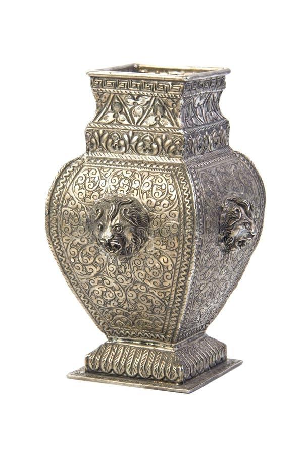 Silver vase royalty free stock image