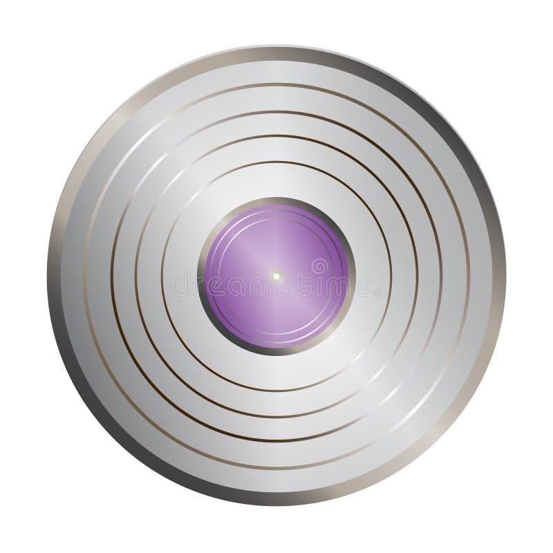 Silver_vinyl ilustración del vector