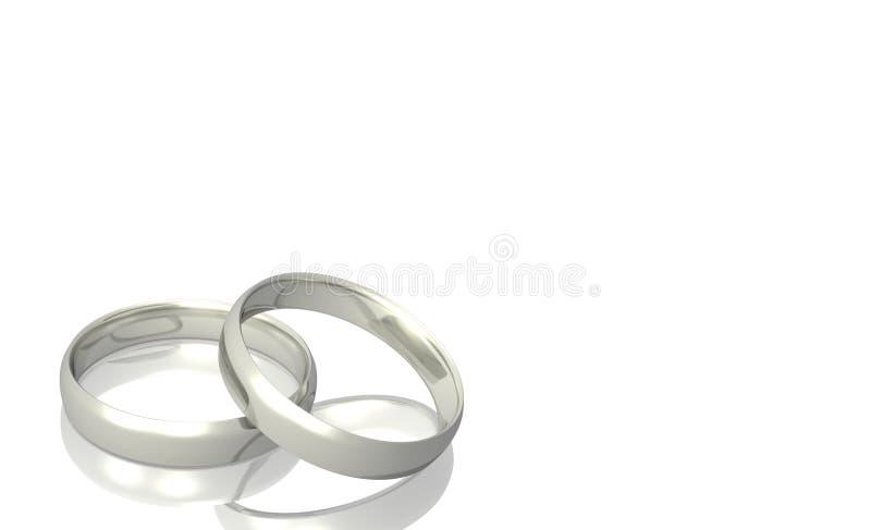 Silver Wedding rings royalty free stock image