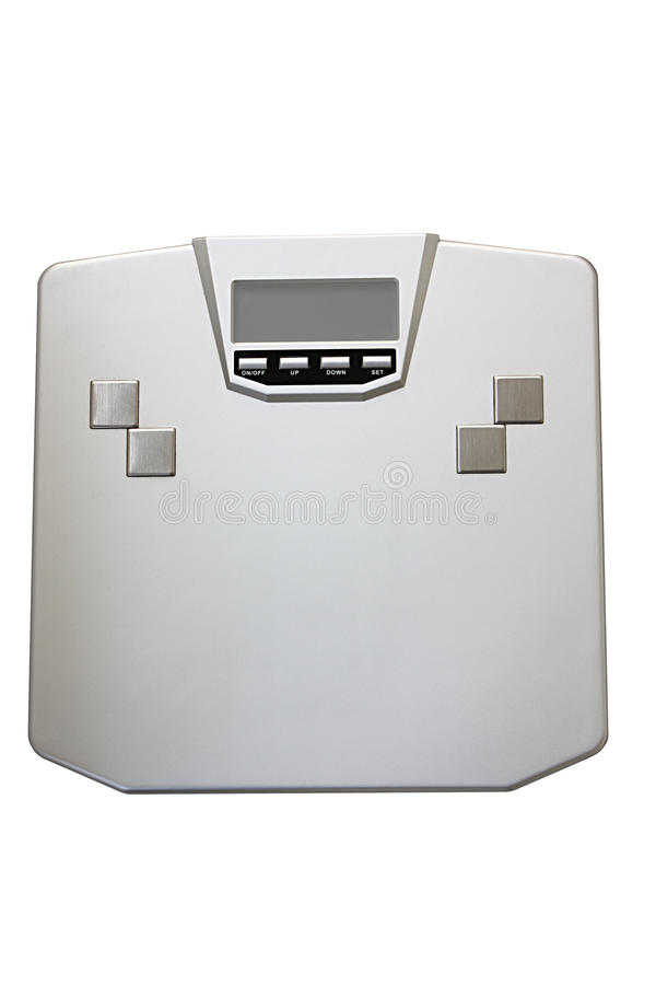 Silver weight scale stock images