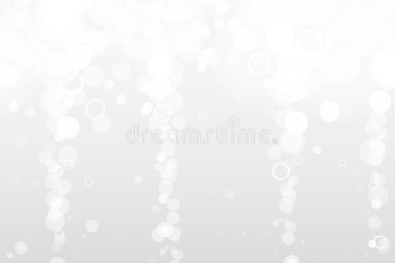 Silver and white bokeh lights defocused. Abstract background. Elegant, shiny, blurred light background. Magic christmas vector illustration