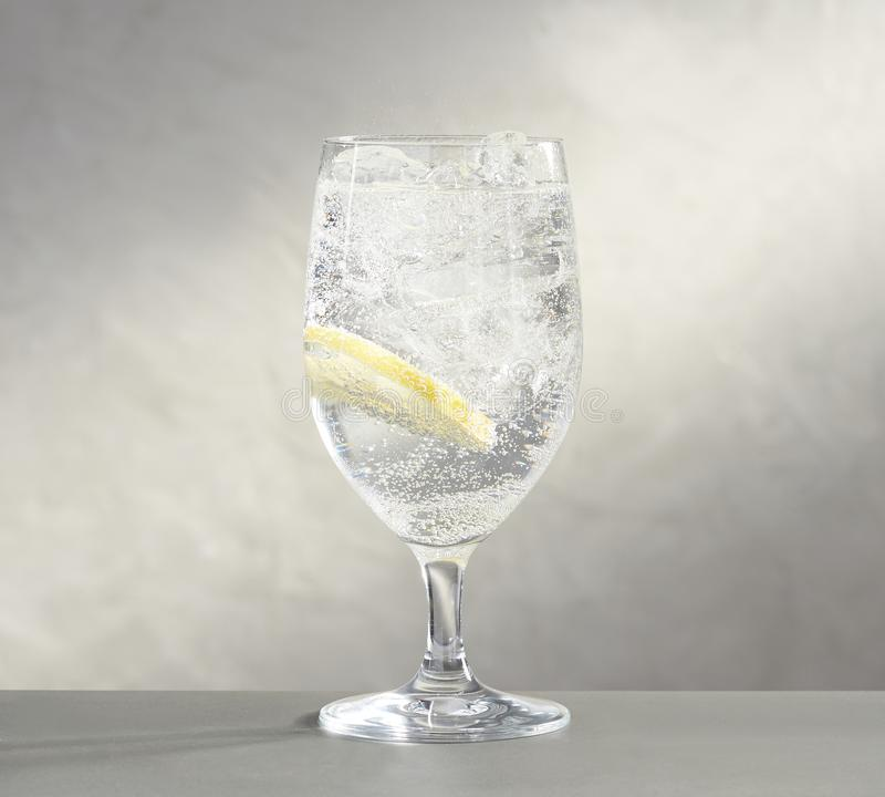 Silver Wine Glass in Black & White Colour royalty free stock image