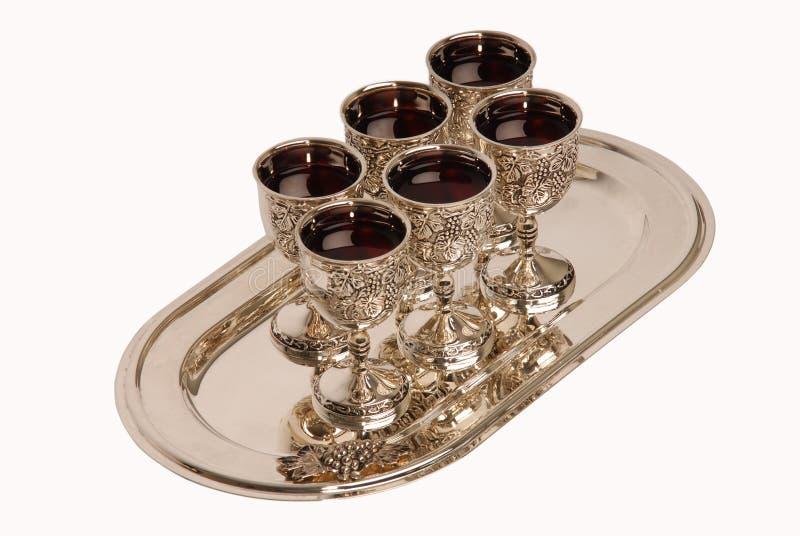 Silver wineglass stock image