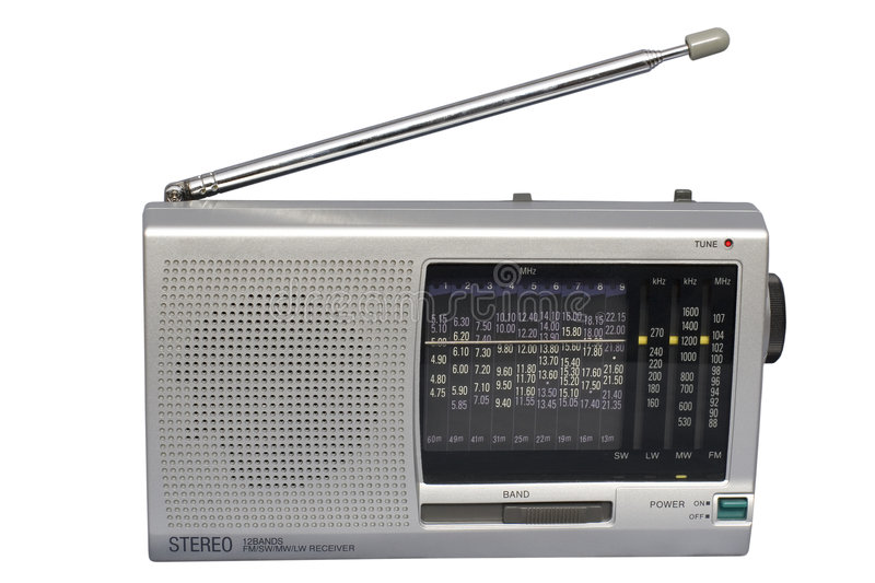 Download Silver World Radio stock photo. Image of connect, portable - 1701446