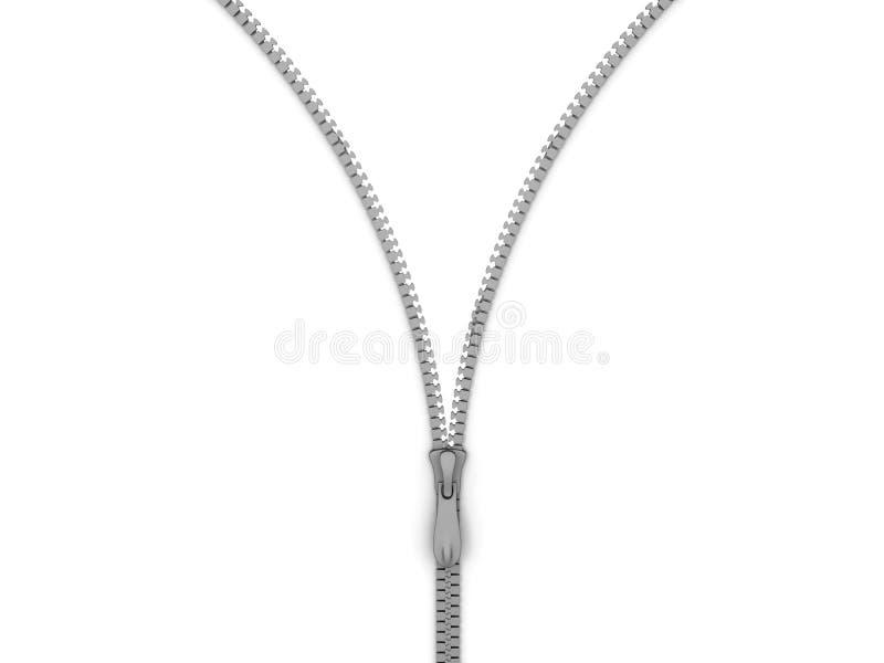 Download Silver zip stock illustration. Illustration of open, illustration - 9742476