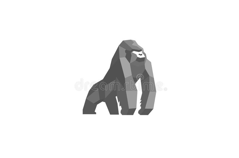 Silverback creativo Logo Design Vector Symbol Illustration ilustración del vector