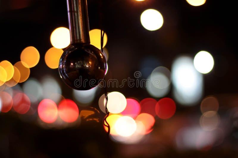 Silverball på natten arkivbild