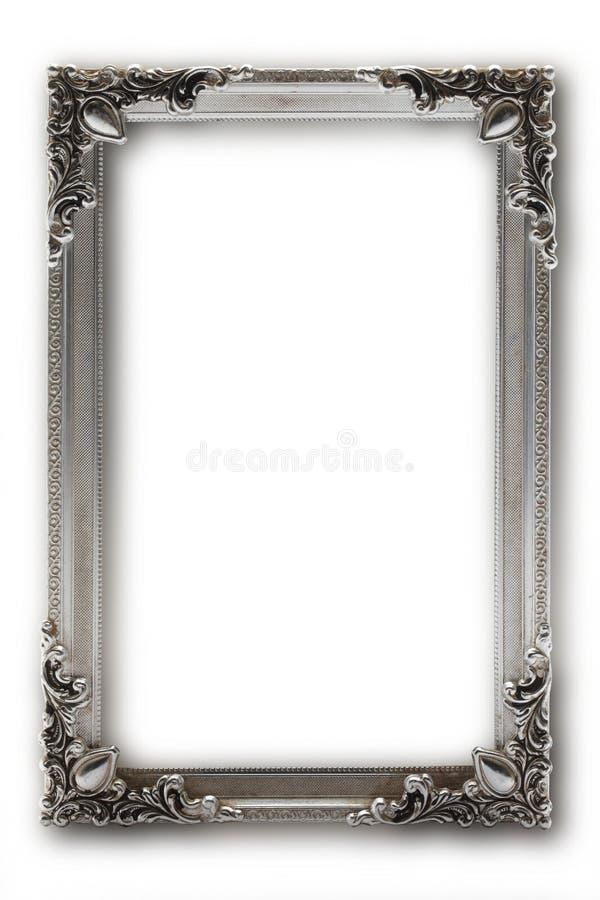 Silverbildram på vit bakgrund arkivfoto