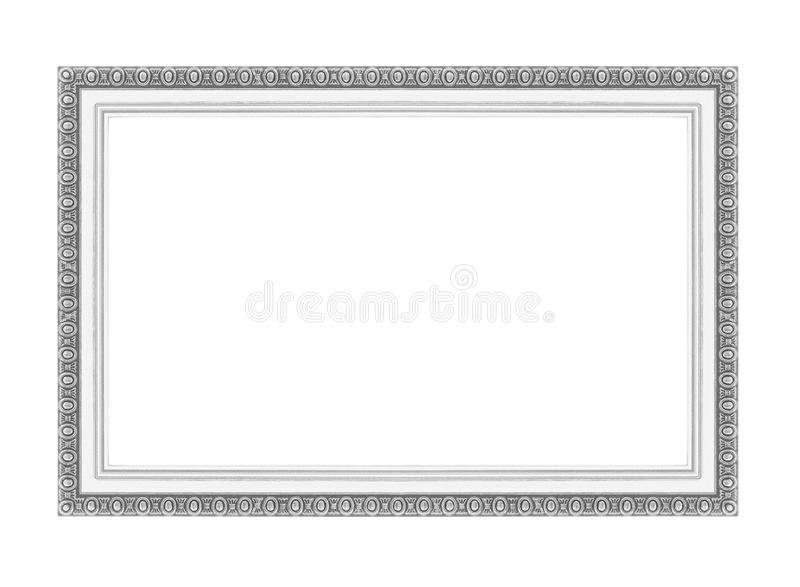 Silverbildramar Isolerat på vit royaltyfria bilder