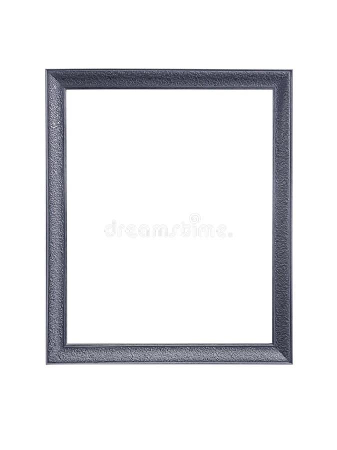 Silverbildramar som isoleras på vit bakgrund royaltyfri fotografi