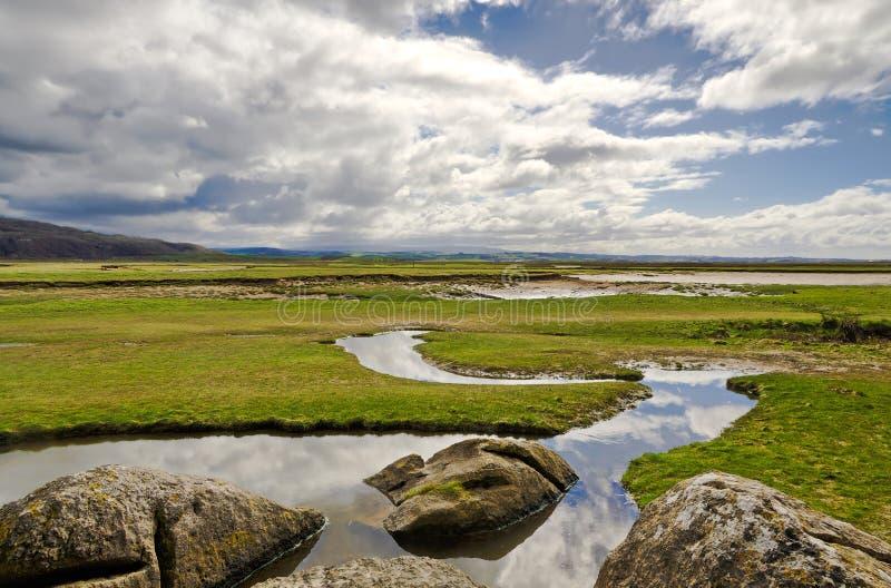 Silverdalekustlijn in Cumbria stock foto
