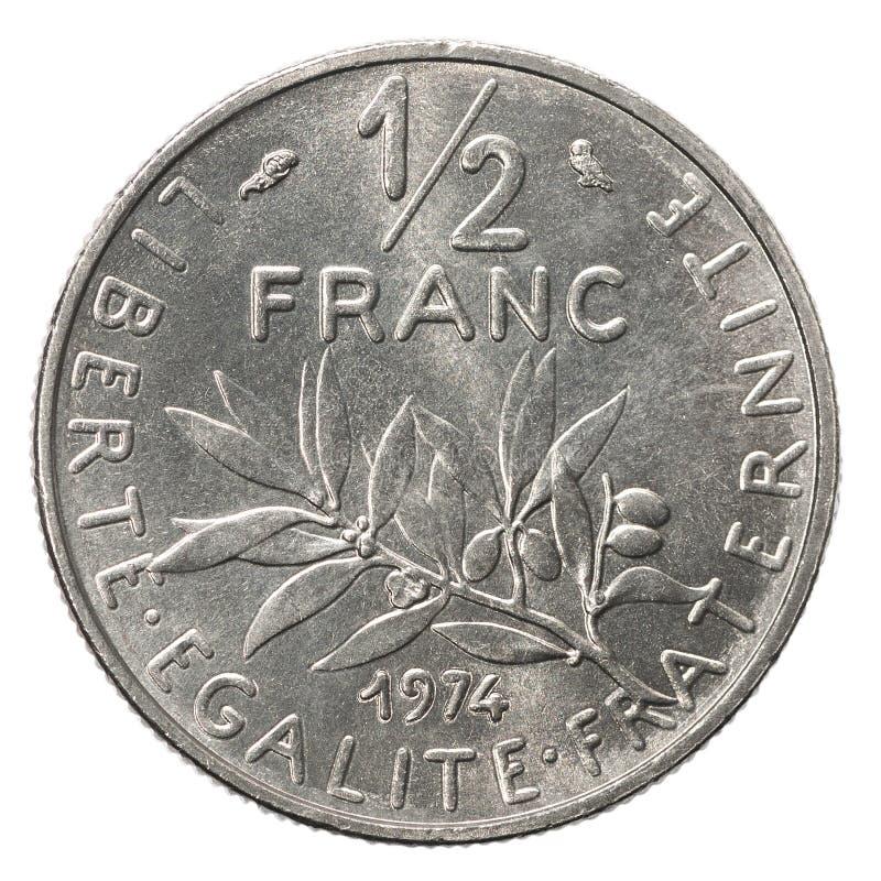 50 silverfranskasentimos arkivbilder