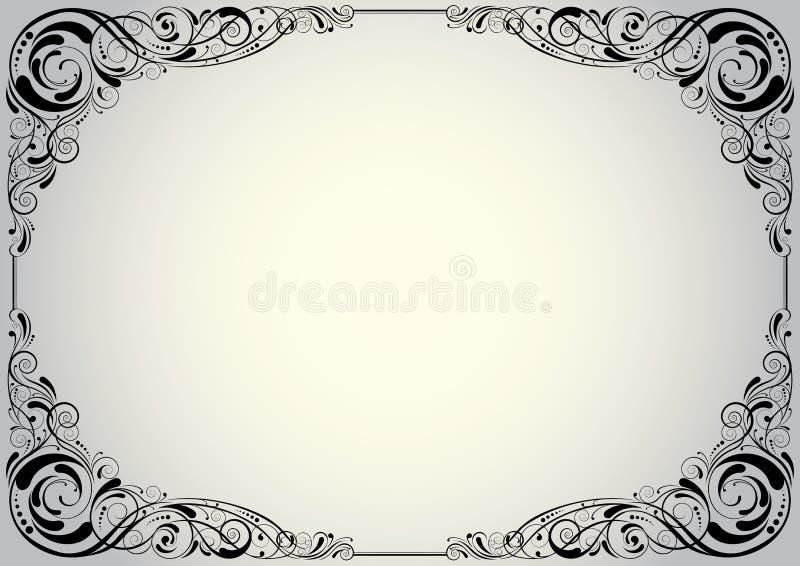 Silverhörnbakgrund royaltyfri illustrationer