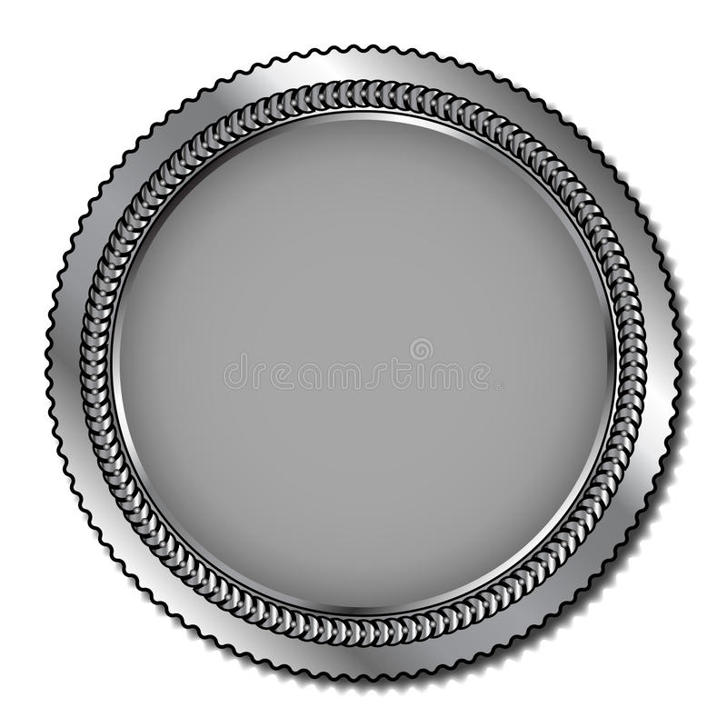 Silvermedalj vektor illustrationer