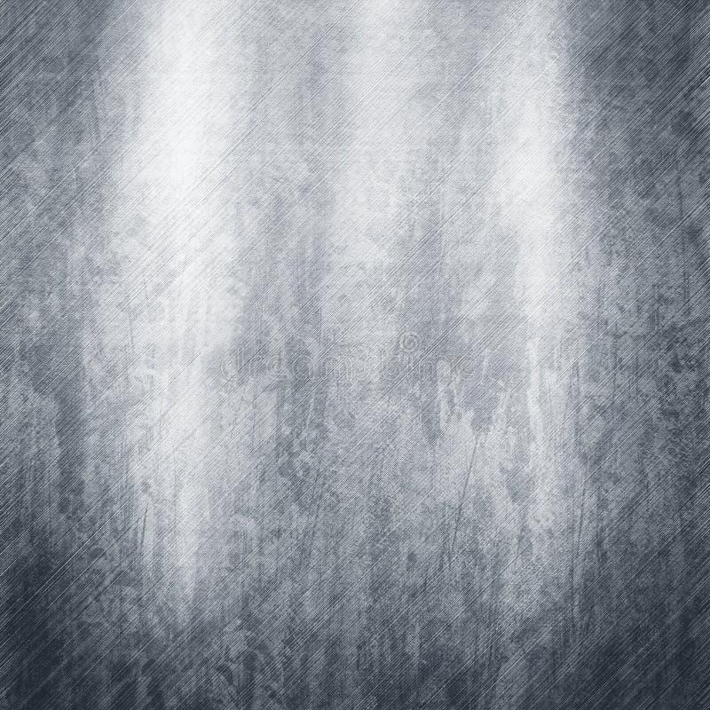 Silvermetalltextur stock illustrationer