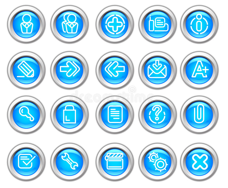Silvero glossy icon set: Website and Internet #2 royalty free illustration
