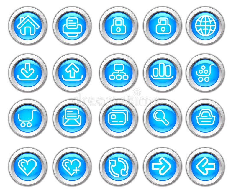 Silvero glossy icon set: Website and Internet. Silvero glossy icons. Website and Internet icon graphics royalty free illustration