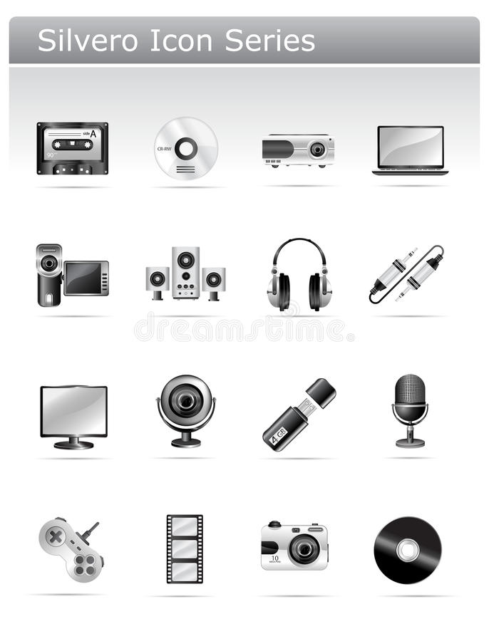 Free Silvero Icon Series - Multimedia And Electronic Royalty Free Stock Photo - 10368605
