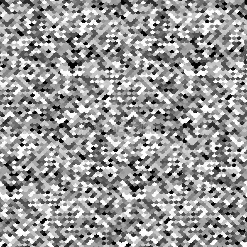 Silverpaljetter vektor illustrationer