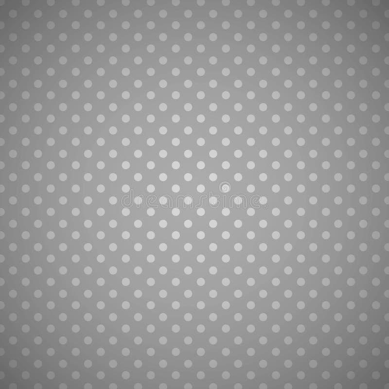Silverprickar på en Grey Background