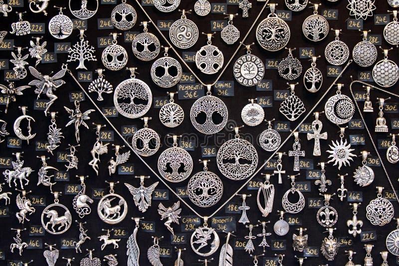 silversmycken arkivbilder
