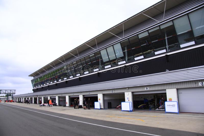 Silverstone Cicuit, Inglaterra imagem de stock royalty free