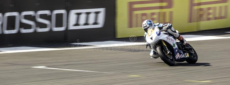 Silverstone moped Racing royaltyfri foto